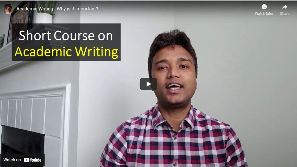 Academic Writing – Lecture 01 (Introduction to Academic Writing)